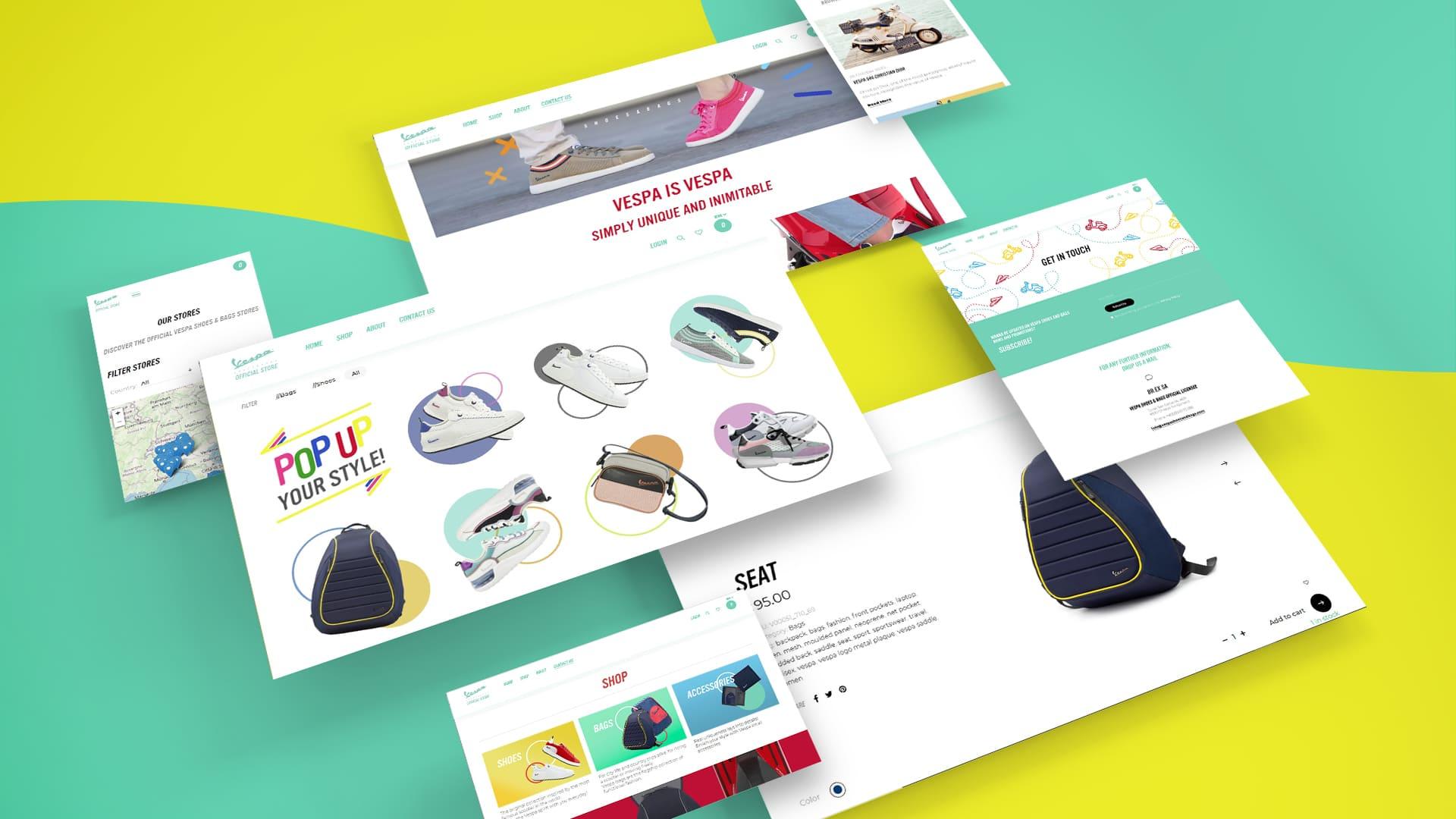 Hubmira Grafica Foto Vespa Shoes Bags Ecommerce Sito Web