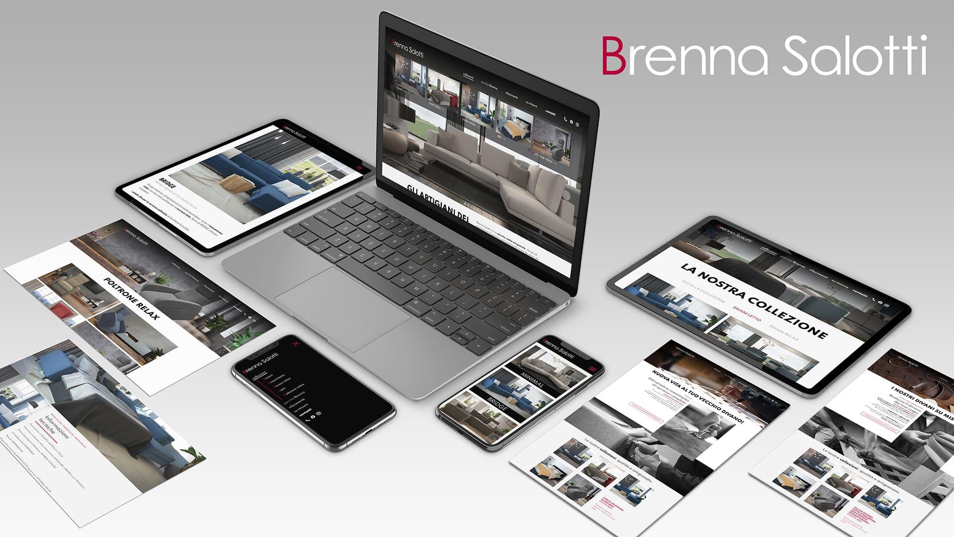 hubmira portfolio 2021 web digital brenna salotti sito milano