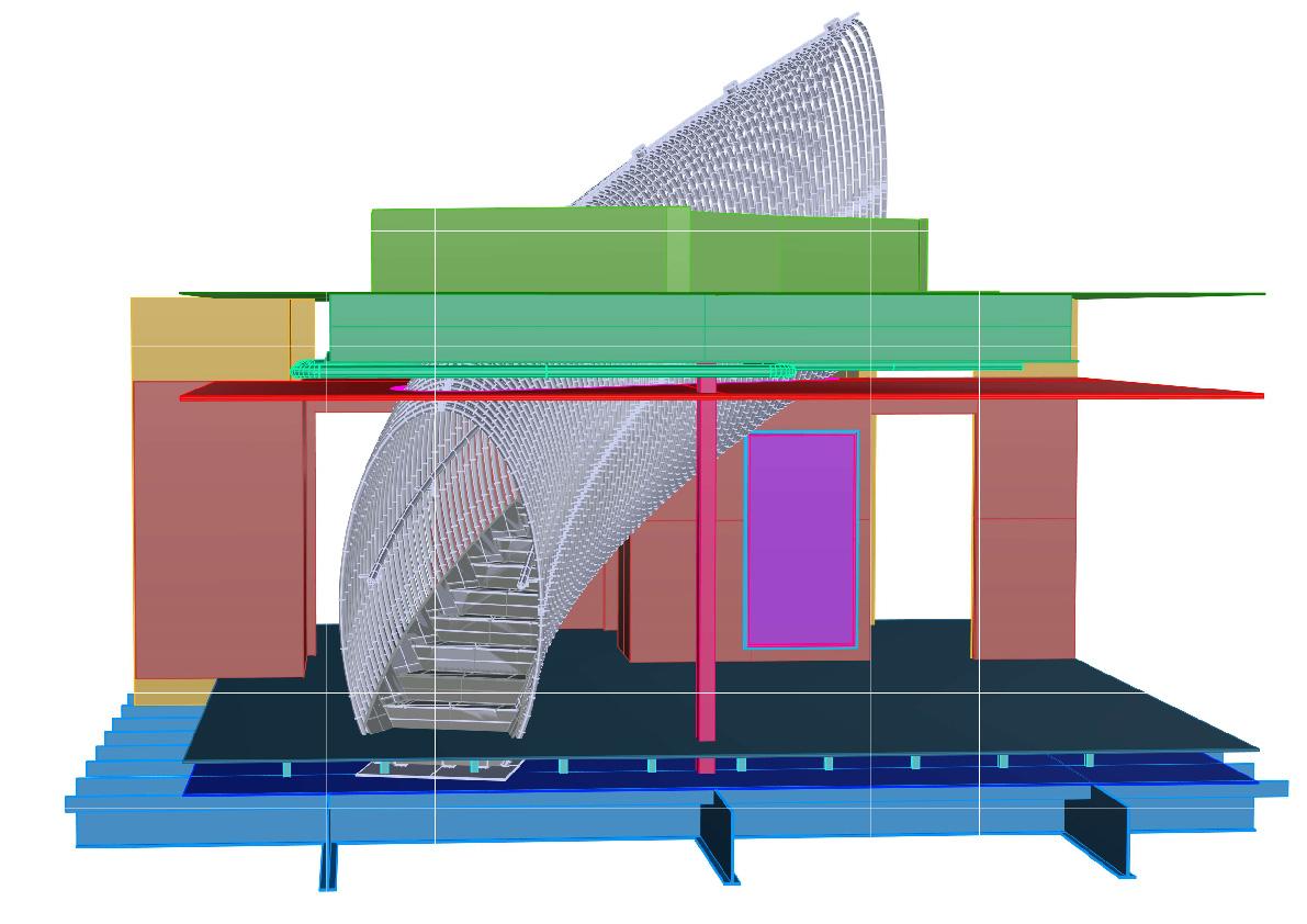 Modello 3D BIM rilievo architettura Hubmira Design