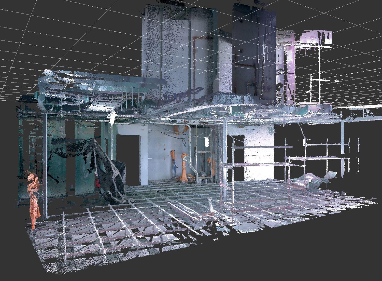 Scansione 3D architettura rilievo point cloud Hubmira Design